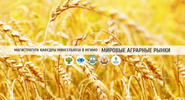 """World Agrarian Markets"" – Master's degree progfam of MGIMO and the Ministry of Agriculture"