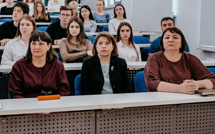 The deputy head of the department of the regime for secrecy of information of the Office of the Federal Treasury for the Stavropol Territory talked with students of the Agrarian University