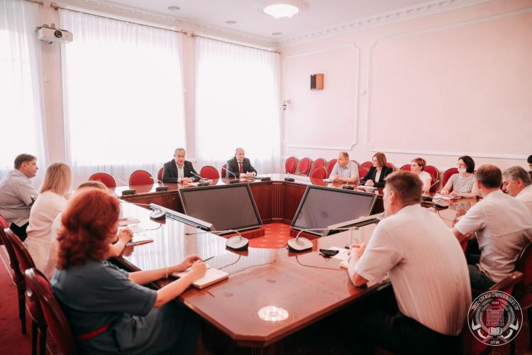Working meeting of the management of the Stavropol State Agrarian University with colleagues from the St. Petersburg state agrarian University